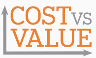 Cost Vs. Value Logo