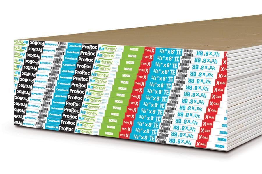 Airrenew gypsum board by certainteed custom home for Airrenew drywall