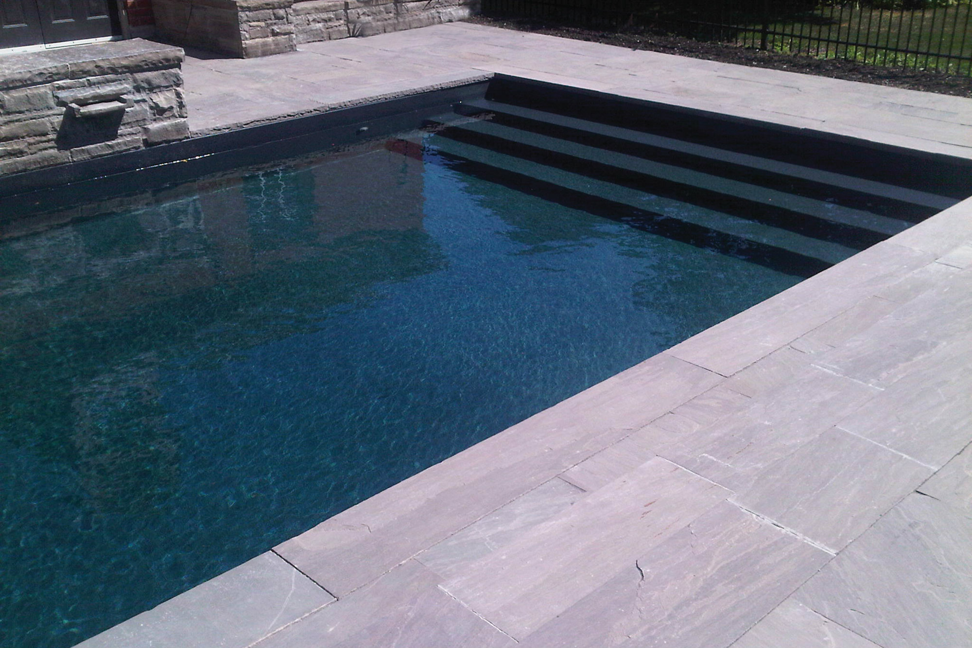 Pen Fabricators Introduces New Black Granite Inground Vinyl Pool Liner Pool Spa News