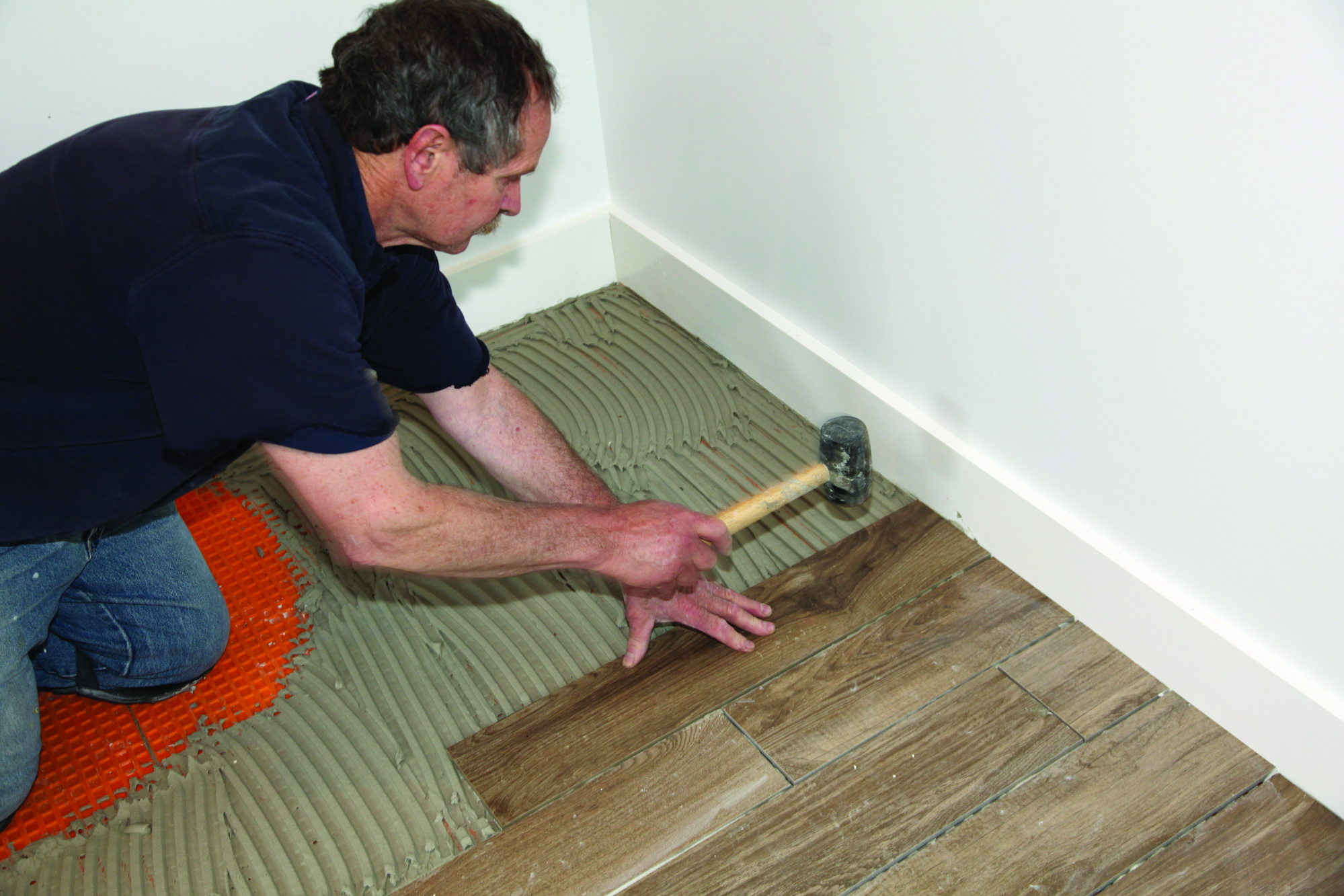 How to put tile on concrete floor
