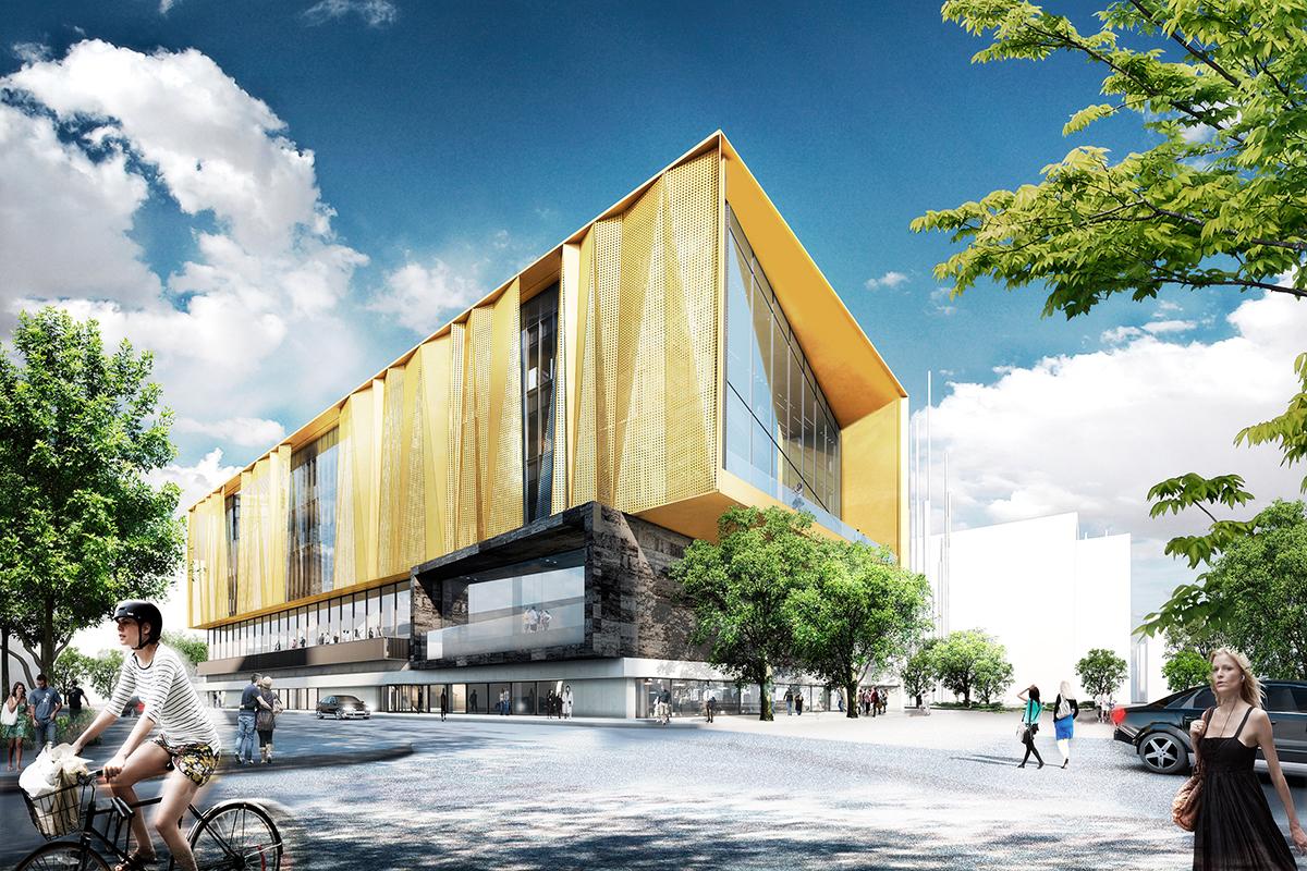 New central library architect magazine architectus for Architectus chch