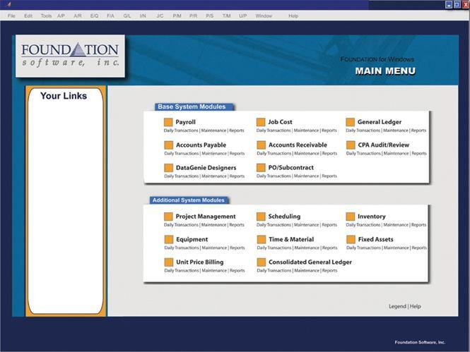 Foundation software project management concrete