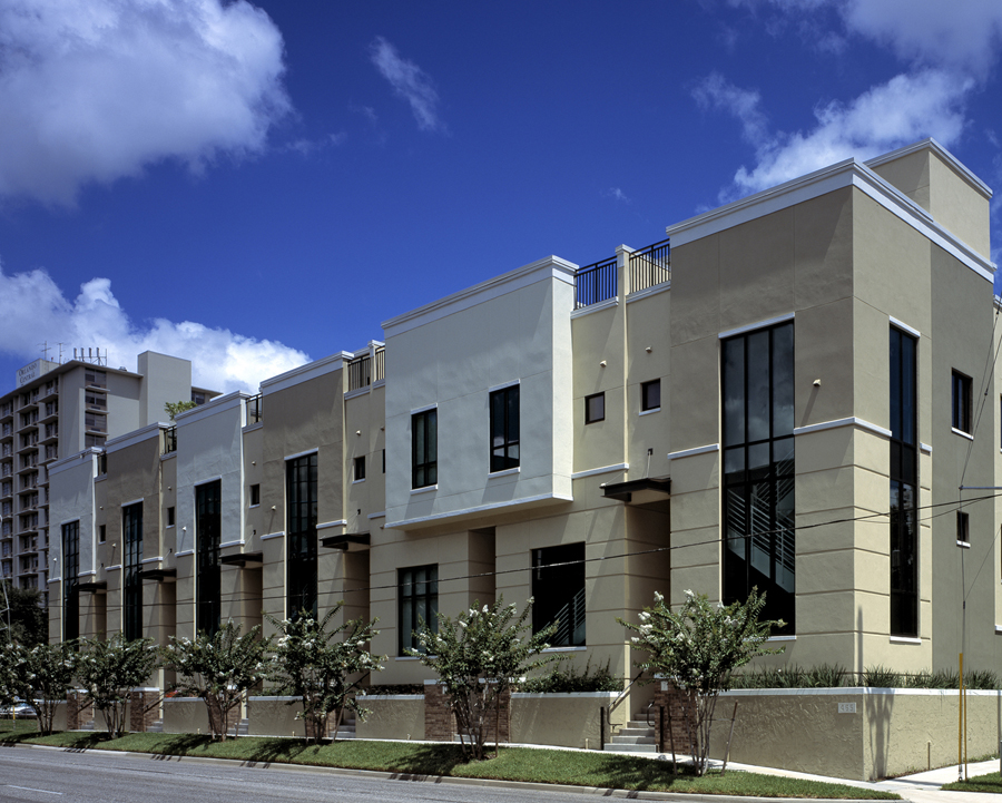 Osceola brownstone residential architect orlando fl for Townhouse with garage nyc