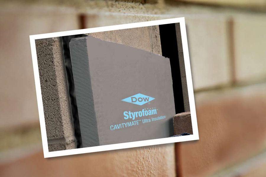 Dow Building Solutions Styrofoam Cavitymate Concrete