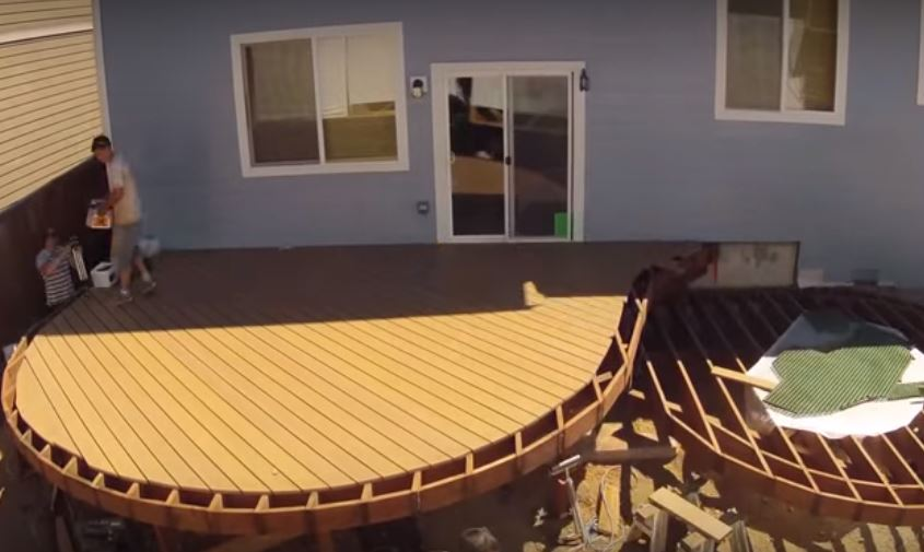 Building A Curved Deck In 7 Minutes Or Less Jlc Online