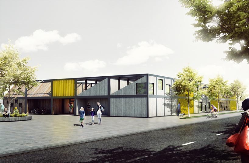 Modular Classroom Rfp ~ Kids city a multi purpose kindergarten made from shipping