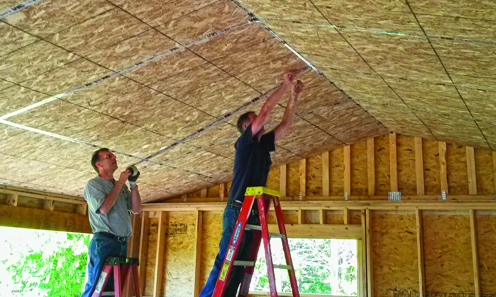 Scissors trusses and home performance jlc online framing for Performance house