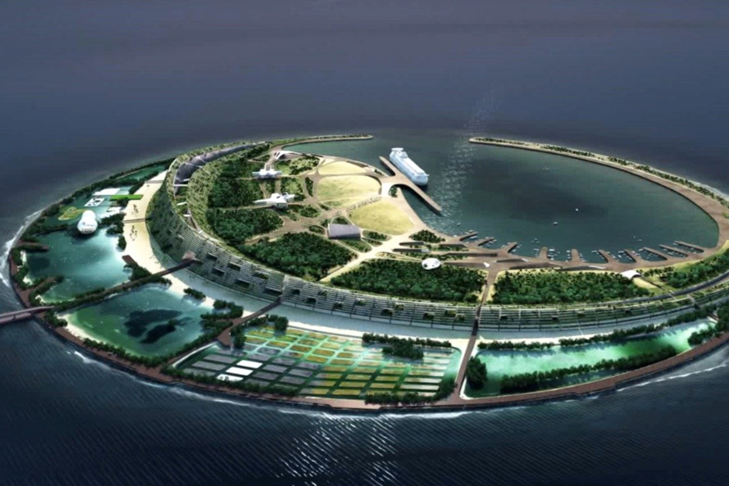 Diller scofidio renfro and a yin yang eco island for Architecture yin yang