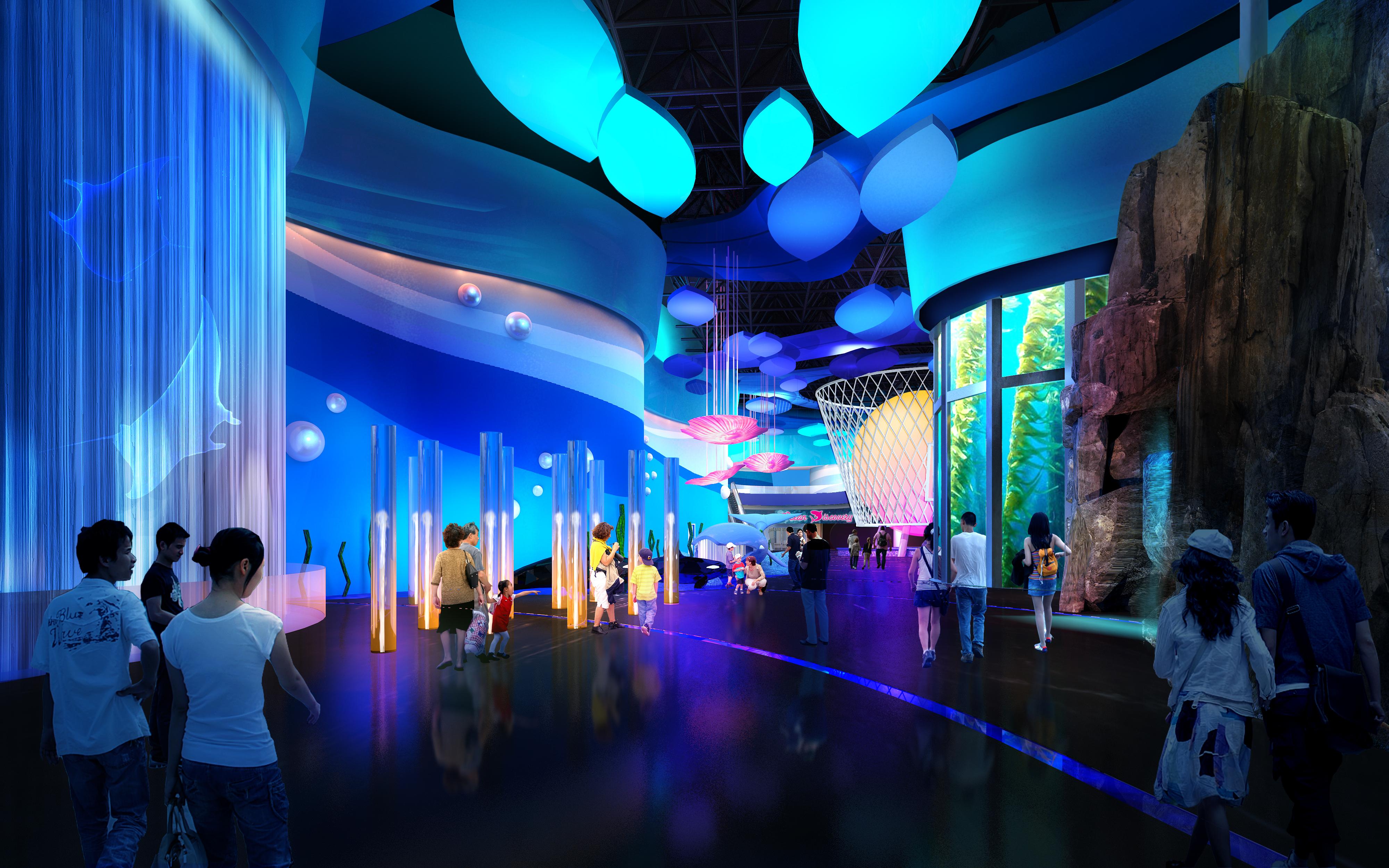 Wanda nanchang ocean world aquarium residential architect tvsdesign nanchang china