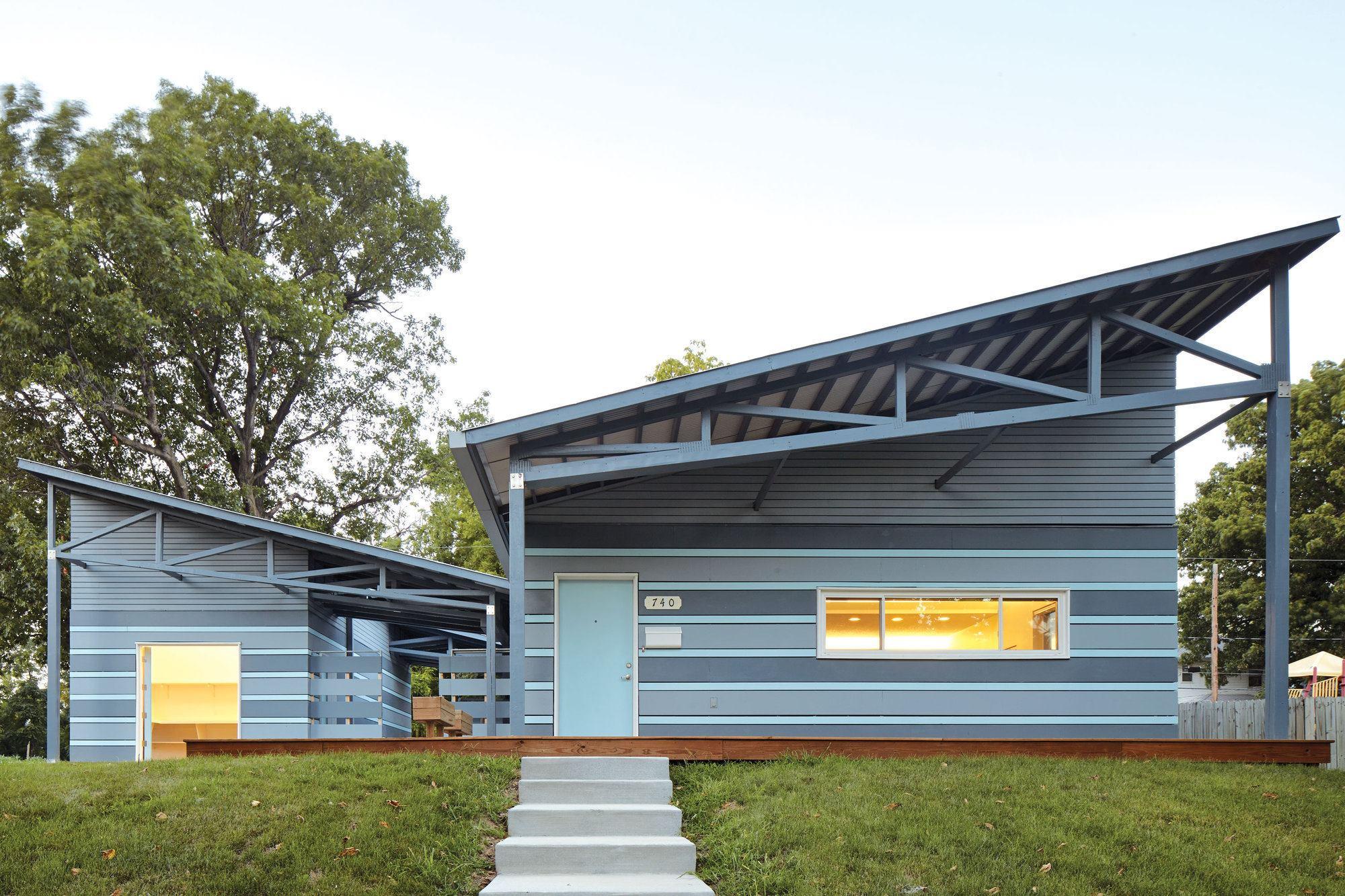 Habitat for humanity prototype designed by el dorado for Modern home design kansas city