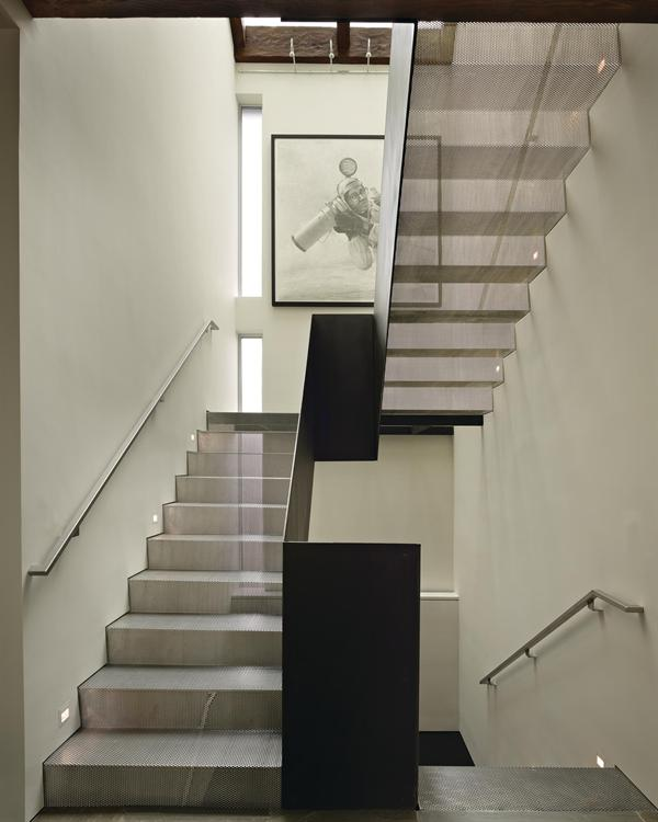 Steel Stair Residential Architect Deforest Architects