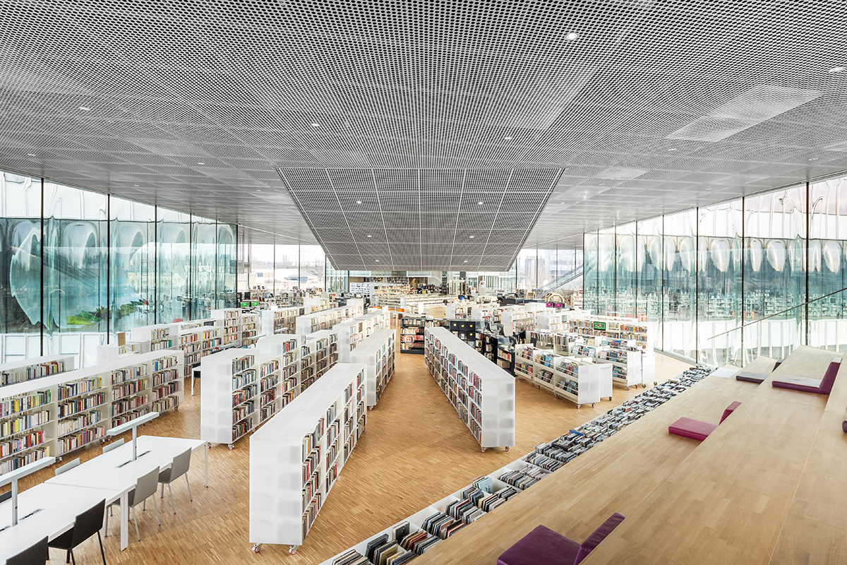 A new x shaped public library by office for metropolitan - Office for metropolitan architecture oma ...