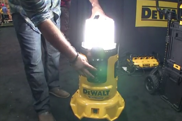 A Cordless Area Light And Charger From Dewalt Tools Of
