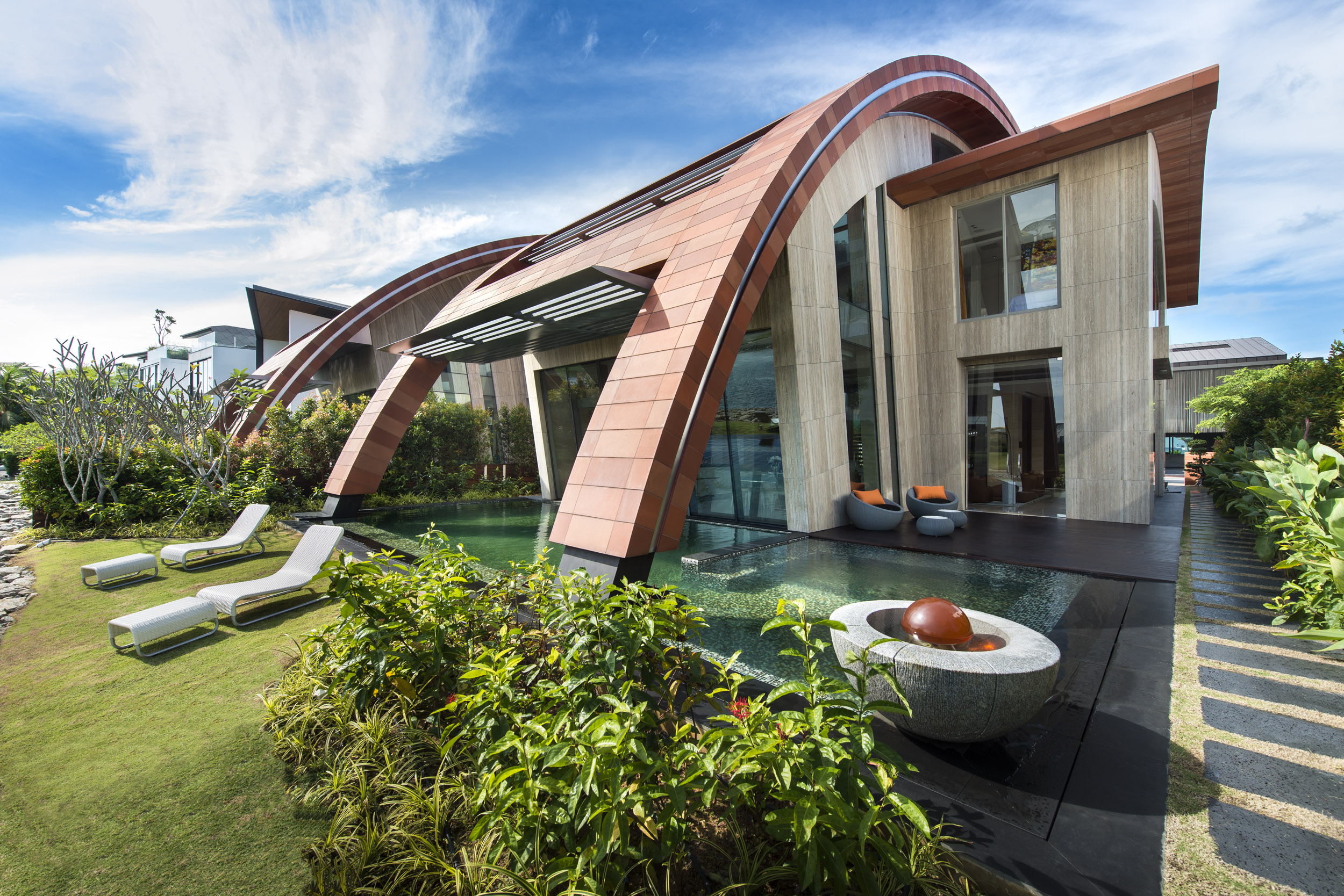 Villa alba architect magazine singapore singapore for Villa architect