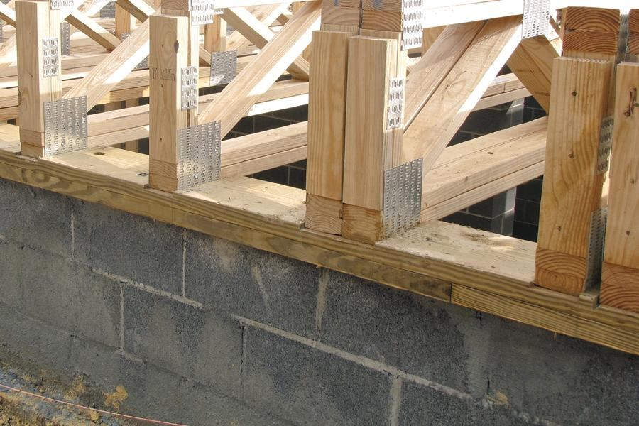Framing fix for a faulty foundation jlc online for What is the best foundation for a house