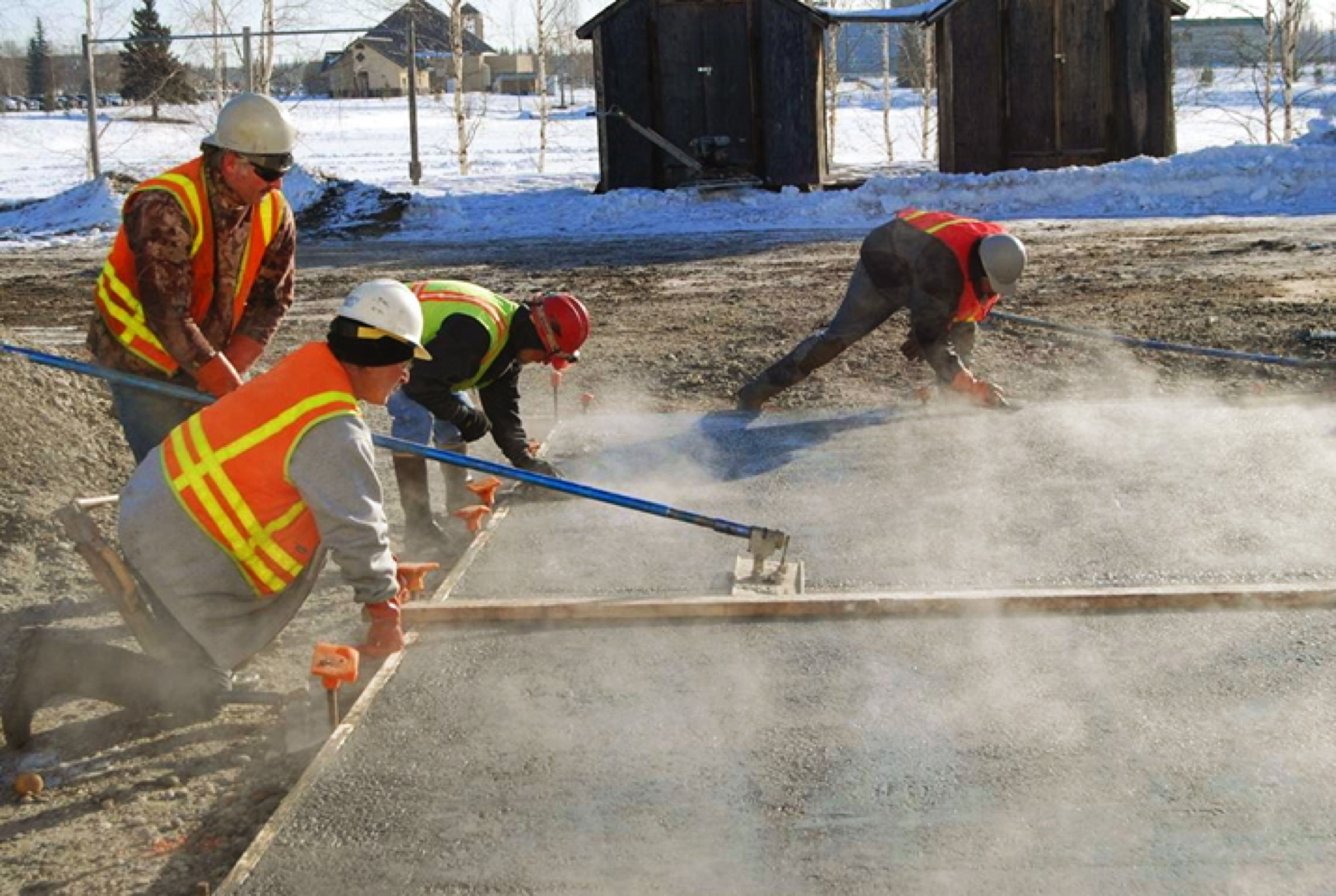 Concrete in cold weather research drives advances jlc for Concrete freezing