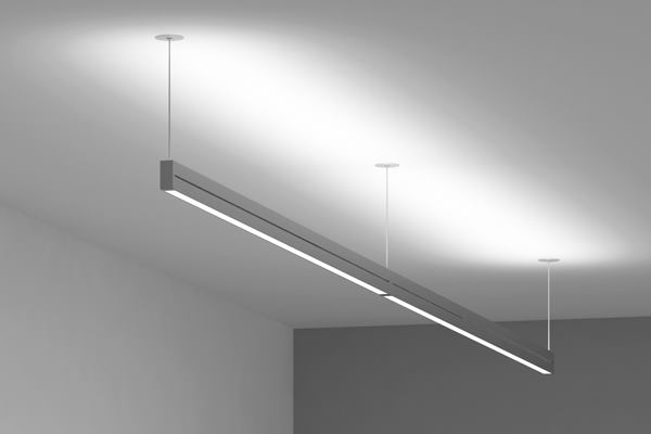 Suspended double box 107 vode lighting architectural for Luminaire double suspension