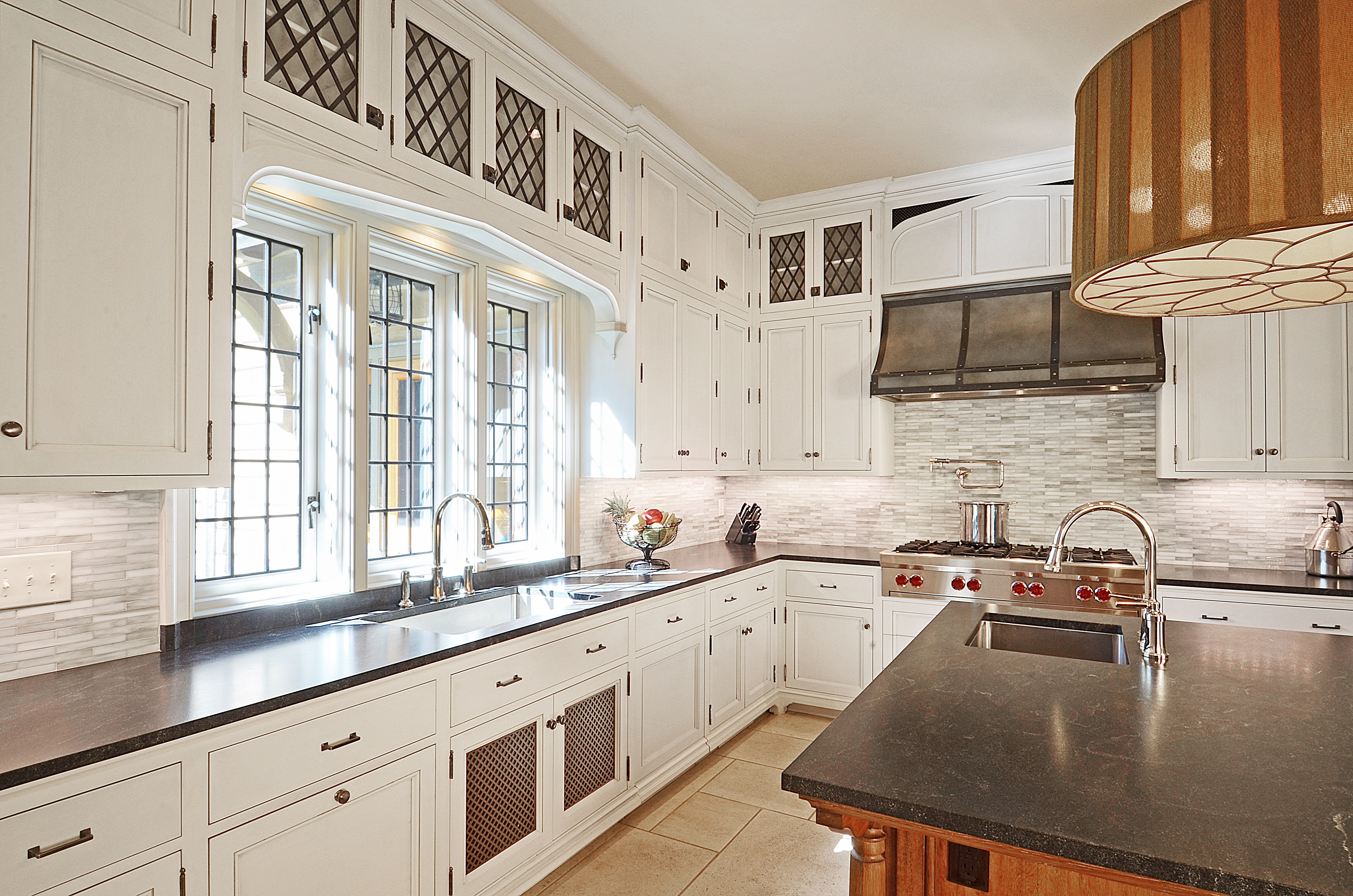Kitchen in a new english tudor residence architect for English style kitchen cabinets