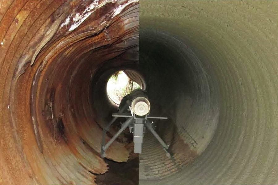 Pipe Culvert Lining : Pipe lining system public works magazine pipes bridges