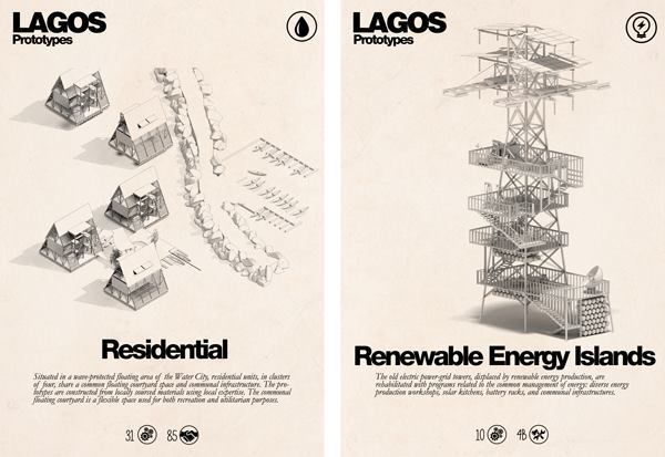The infrastructure of the city of Lagos, in Nigeria, is constantly in flux. The exhibition discusses the creation of spaces and other interventions that bolster the city's current plan.
