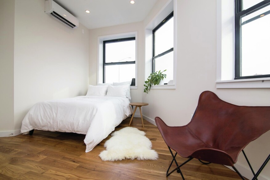 A bedroom space at Havemeyer Home.