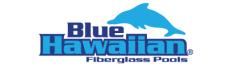 Blue Hawaiian Fiberglass Pools Logo
