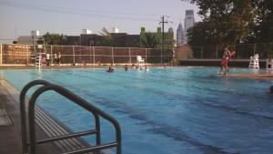 TYPICAL POOL: The Pop-Up Pool team hopes to bring additional life to Philadelphia's public pools, which typically include clean water, a concrete deck and fence, but not much else