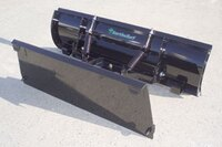 Snow plows for compact tractor loaders from Earth and Turf Products