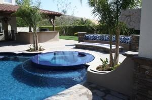 When asked if backyard pools and spas are expected to be popular among their residential clients this year, 73.8 percent of landscape architects surveyed said yes of pools, and 76.4 percent offered the affirmative for spa features. Pool/spa by Green Scene Landscaping and Swimming Pools