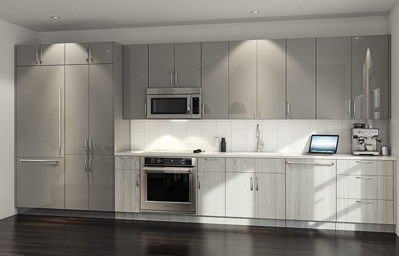 The rendering for one of the 41 new kitchen designs available for Surge Homes properties.