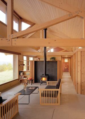 A house designed by Kelly Davis, AIA, and the author fights the chill of Wisconsin winters with its passive solar orientation.