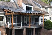 Solar Timber-Frame Pergola