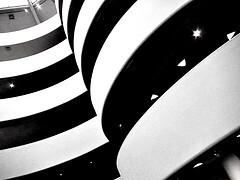 Shot of Guggenheim museum by Kevin Dooley. Obtained via Flickr