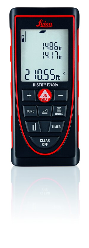 The IP 65 certified Leica DISTO E7400x has been tested to survive drops up to 6 feet.