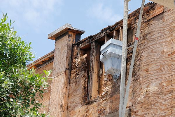 Parapets walls were leaky & super rotted on this 10 year old restaurant I saw being remodeled.