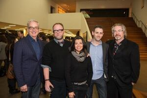 From left: Stephen Doyle, Doyle Partners; Paul Bennett, IDEO; Es Devlin, Stage and Costume Designer; Josh Tyrangiel, Bloomberg Businessweek; Michael B. Johnson, Pixar