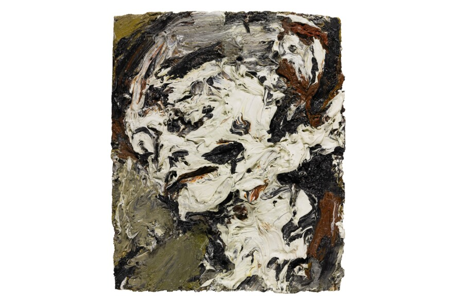 """Head of Gerda Boehm,"" by Frank Auerbach (1965)"