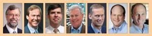 Pictured (from left): Alan  Beaulieu, Case Braskamp, Bob Czechowicz, Thom Dammrich, Doug  Harrison, Gene Marks and Robert Tucker.