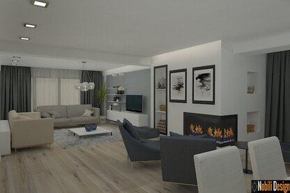 Proiecte design interior case vile moderne
