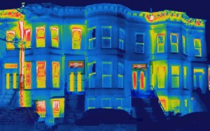 Zola's thermal image shows the performance of original windows and American Heritage SDH replacements.