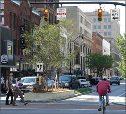 """2 way is the new way."" That's the slogan coined to support converting a formerly blighted downtown area into a thriving residential and commercial community.Photo: City of Columbus, Department of Public Service"