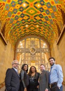 The Develop Detroit team, from left, Michael Appel, Latrice Davis, Sonya Mays, Ben Phillips, and Oren Brandvain.