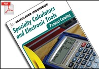 Digital catalog of Calculated Industries products – calculators, tools and measures