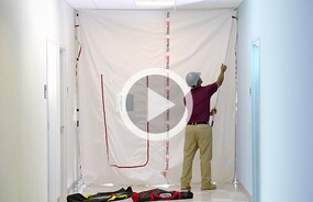 ZipWall® Hall Kit. Seal off a hallway in minutes!