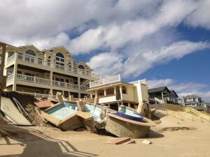 Washed out: Hurricane Sandy   obliterated more than a half-dozen pools in the town of Duck, N.C. Town officials recently passed an ordinance placing a 30-foot buffer between pools and sand dunes.