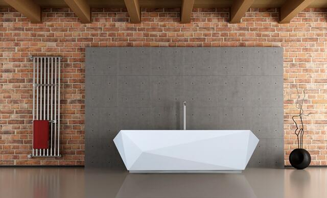 Clarke Architectural's solid surface acrylic resin based baths. Photo courtesy of Clarke Architectural.