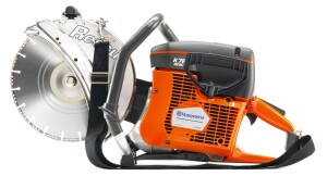 First responders referred to a gas powered rescue saw. The Husqvarna model K760 is one of many available models.