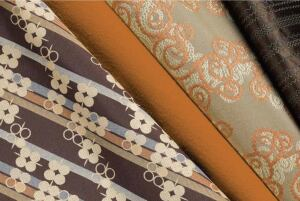 Simply Real fabric  Pallas Textiles  pallastextiles.com  - Suitable for corporate, education, healthcare, and hospitality applications    - Available in 51 SKUs consisting of four different patterns (deeply rooted, on the path, seeking truth, and solid footing)    - Made with recycled and recyclable materials    - Designed by Laura Guido-Clark