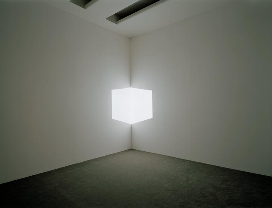 Afrum I (White) (1967)  Projected light, dimensions variable  Solomon R. Guggenheim Museum, New York, Panza Collection, Gift 92.4175  © James Turrell Installation view: Singular Forms (sometimes repeated), Solomon R. Guggenheim Museum, New York, March 5 - May 19, 2004