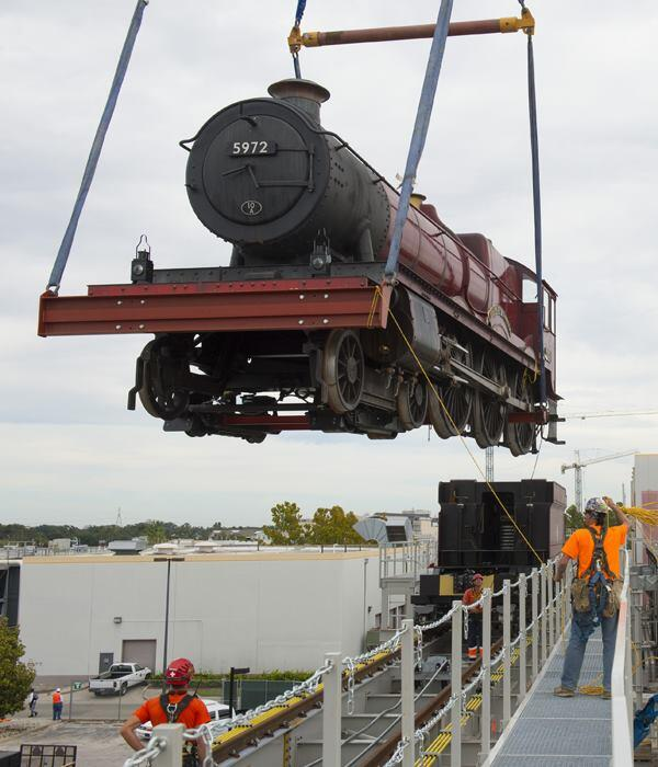 The Hogwarts Express arrives at Universal Orlando and will transport visitors between the Potter-themed spaces at its Universal Studios and Islands of Adventure parks.